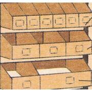 Papír bútor kiegészítő (1/3 nyitott fiókok)