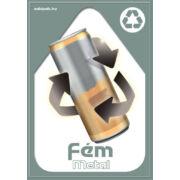 Szelektív hulladékgyűjtés matrica (fém,A5)