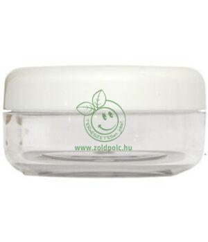 Műanyag tégely, víztiszta (100ml)