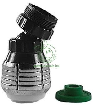 Állítható sugarú gömbcsuklós csapfej (króm-fekete)