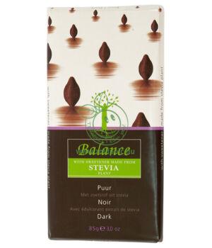 Belga csokoládé steviával, Balance (étcsokoládé)
