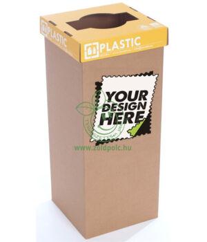 Szelektív kuka erősített kartonból logózva (műanyag-angol)