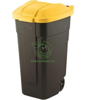 Szelektív kuka (fekete alj,sárga tető)