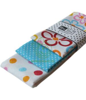 Textil zsebkendő 3 db-os, BlessYou (Gyerek-Happy flowers)