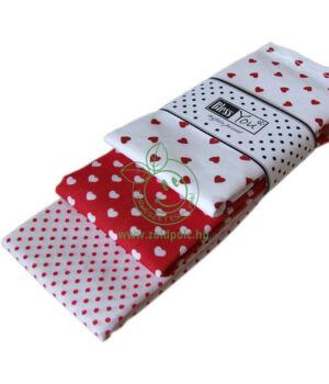 Textil zsebkendő 3 db-os, BlessYou (Női-Valentin szíves)