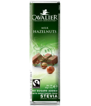 Belga tejcsoki steviával, Cavalier (tört mogyorós,40g)