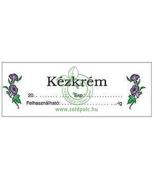 Öntapadó kozmetikai címkék (kézkrém)