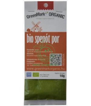 Természetes ételszínezék bio, GreenMark (Spenót por)